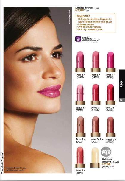 """Un screen shot de la Revista, para que vean los colores que ofrecen (abajito está el mencionado """"Coral 2"""")"""