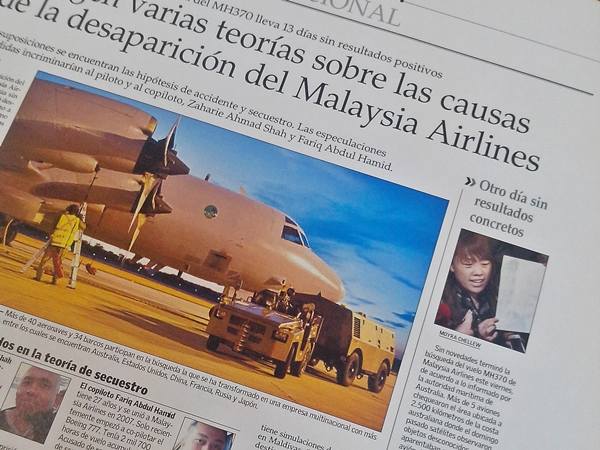 """5. Tuvimos nuestro primer viernes de """"diario de prueba"""" nos tocó internacional y pude escribir sobre el avión desaparecido -tema que me tiene muy intrigada-. Toda la experiencia fue maravillosa."""