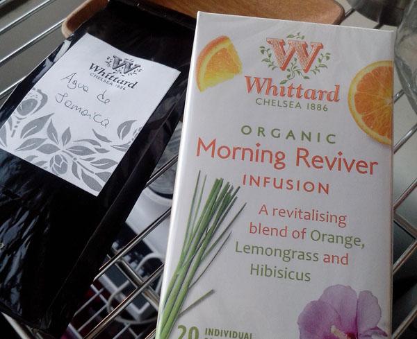 1. Comprar en Whittard es demasiado adictivo. Esta vez compré Agua de Jamaica y esta infusión de hierbas para la mañana.