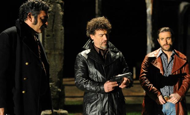 """""""El mono"""" (Daniel Antivilo), Francisco y Sergio O'Ryan (Julio Milostich y Cristóbal Tapia)"""
